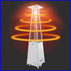 13KW Gas Patio Heater Flame Stainless Steel Pyramid Garden Outdoor With Wheel Tube