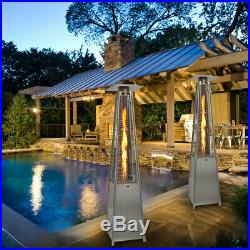 13KW Outdoor Patio Gas Heater Stainless Steel Pyramid Garden Outdoor With Wheel