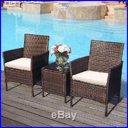 2 Seater Rattan Sofa Outdoor Garden Furniture Table And Chair With Cushions