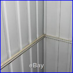 6 x 4ft Metal Garden Apex Roof Shed Storage Unit Shed Outdoor Bike Patio UK
