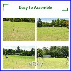 6X3M Walk-in Fully Galvanised Frame Polytunnel Greenhouse Plant Garden Outdoor