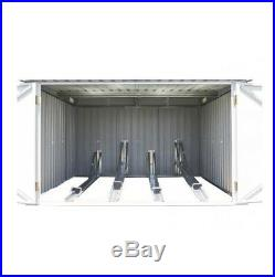 6x6 Metal Bike Store Storage Shed Outdoor Steel Garden Bicycle Shelter Patio NEW