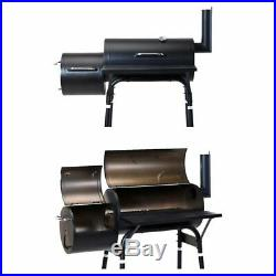 Barbecue BBQ Outdoor Charcoal Smoker Portable Grill Garden Barrel Drum Large