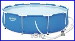 Bestway Frame Swimming Pool & Pump Round Garden Outdoor Family Pool 10ft/305cm