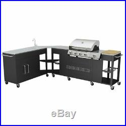 Garden Gas Barbecue Large Grill Butane Propane LPG Outdoor 4+1 Burner Cooking