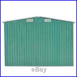 Green Outdoor Garden Metal Storage Shed Galvanised Steel 3 Sizes Available