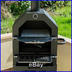 Kct Outdoor Pizza Oven Bbq Smoker Wood Fired Barbecue Portable Garden Cooker