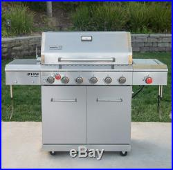 Large 7 nexgrill+1 side Gas BBQ Outdoor Garden Barbecue Stainless Steel cookin