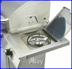 Large Barbecue Gas Grill Outdoor Garden BBQ 5 Burner & Side Uniflame NEW UK GIF