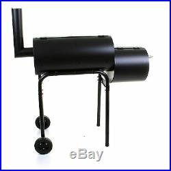 Large Charcoal Bbq Barbecue Smoker Barrel Grill Food Cooking Garden Outdoor