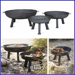 Large Jumbo Outdoor Garden Fire Pit BBQ Freestanding Patio Table Bowl Grill UK