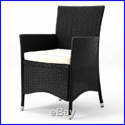 Malaga Rattan 6 Seater Garden Outdoor Dining Set Table Chairs Cushions Patio