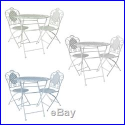 Metal Bistro Set 2 Seater Table and Chairs for Patio/Garden/Lawn/Outdoor Dining