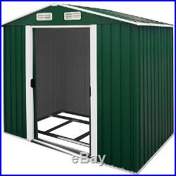 Metal Garden Tool Shed Storage 10x8.5ft Apex Outdoor Shop Steel House Store
