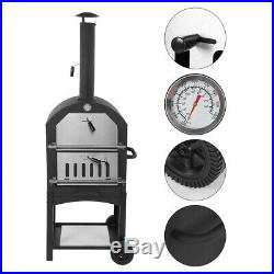 Mobile Home Outdoor Pizza Oven Garden Chimney Charcoal BBQ Bread Baking Tool