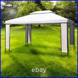 Outdoor Garden Gazebo White 3x4m Canopy Marquee Party Tent Pavilion Sunshade