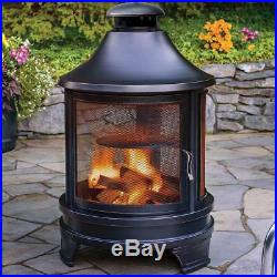 wood burning patio heater Outdoor Log Burner Patio Heater Steel Fire Pit Grill Cooking