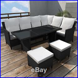 Outdoor Lounge Set 19 Pieces Poly Rattan Garden Table Sofa Seat Dining Furniture