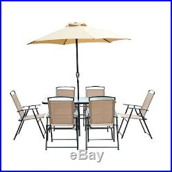 8 Seater Rattan Cube Dining Set With Parasol