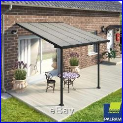 Palram Outdoor Garden Feria Patio Cover Canopy Shelter Tent In Grey 3 X 3.05M
