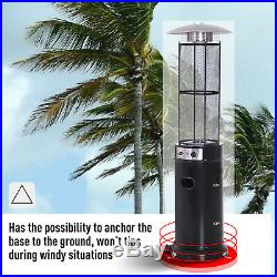 Portable Patio Heater Gas Glass Tube 11KW Stainless Steel Garden Outdoor