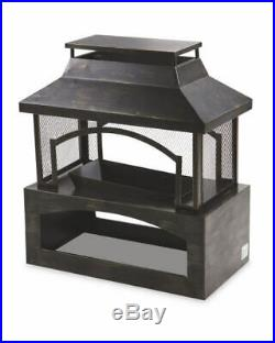 Rectangle Fire Place Style Outdoor Garden Log Burner Fire Pit Wood