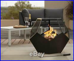 Unique Large Fire Pit Chamber Log Burner Outdoor Garden Patio Camping Charcoal