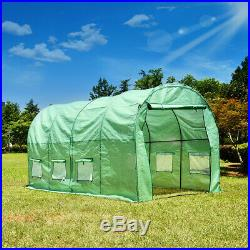 Walk-In Polytunnel Greenhouse Poly Tunnel Plant Outdoor Garden PE Steel Frame